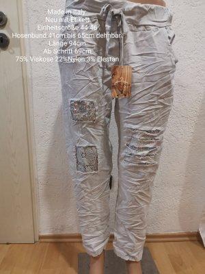 Made in Italy Pantalone bloomers grigio chiaro
