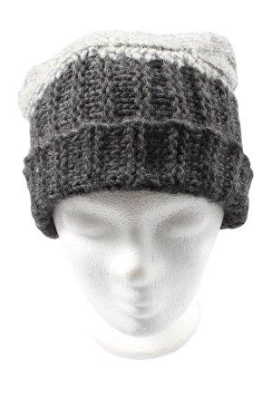 Made in Italy Cappello all'uncinetto grigio chiaro punto treccia stile casual