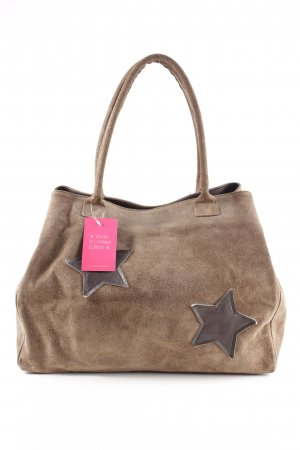 Made in Italy Sac Baril brun style décontracté