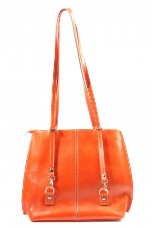 Made in Italy Schultertasche hellorange Casual-Look