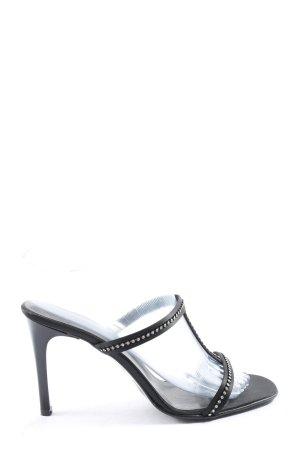 Made in Italy High Heel Sandaletten schwarz Casual-Look