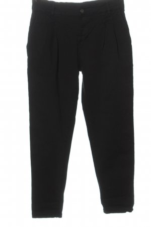 Made in Italy Chinohose schwarz Casual-Look