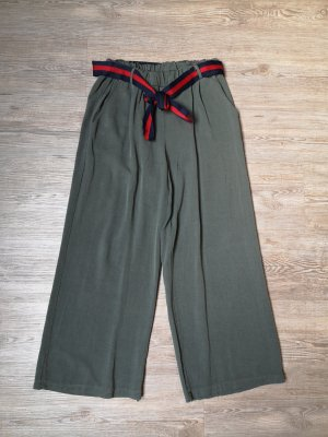 Made in Italy Hose 7/8 S grün khaki high waist