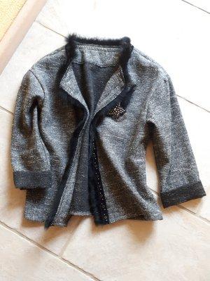 Made in Italy Veste courte blanc-noir