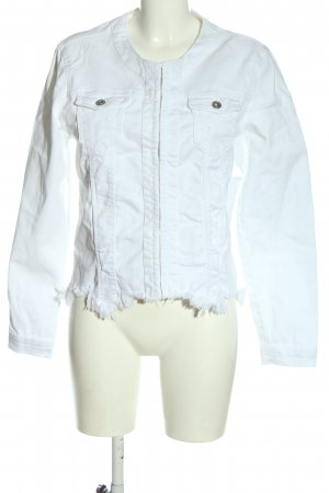Made in Italy Blazer in jeans bianco stile casual