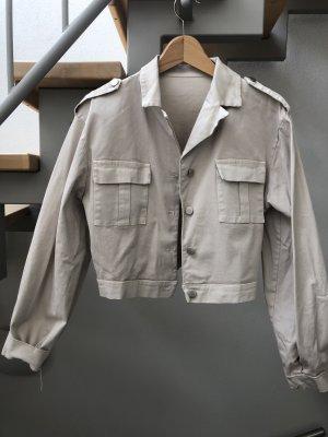 Made in Italy Veste courte beige clair coton