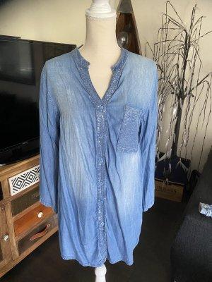 Made in Italy Bluzka jeansowa błękitny-chabrowy