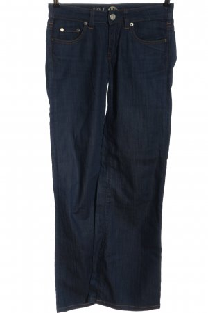 Made in Italy Jeansschlaghose blau Casual-Look