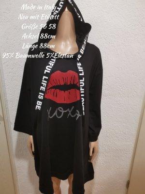 Made in Italy Kapuzen Kleid xoxo Kuss