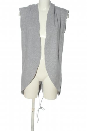 Made in Italy Hooded Vest light grey flecked casual look