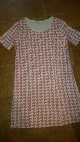 Made in Italy Kleid Hahnentritt rosa Gr. 38 (TGXL)
