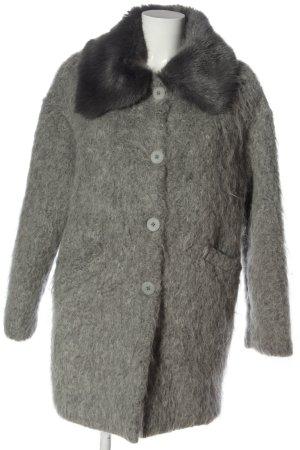 Made in Italy Cappotto in eco pelliccia grigio chiaro stile casual