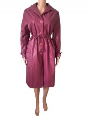 Made in Italy Heavy Raincoat pink-purple