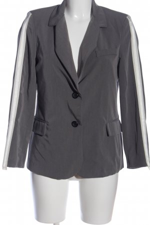Made in Italy Kurz-Blazer hellgrau-weiß Business-Look