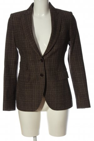 Made in Italy Kurz-Blazer braun Karomuster Casual-Look