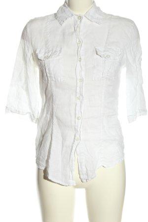 Made in Italy Camisa de manga corta blanco look casual