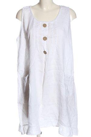 Made in Italy Kurzarmkleid weiß Casual-Look