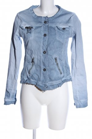 Made in Italy Kurzjacke blau Street-Fashion-Look