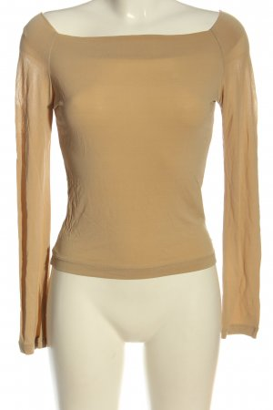 Made in Italy Langarm-Bluse goldfarben Casual-Look