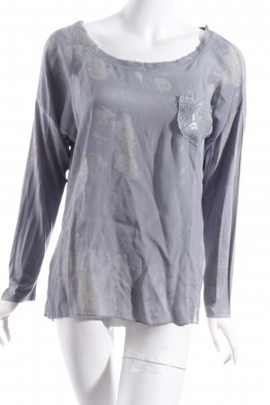 Made in Italy Langarm-Bluse blassblau Casual-Look