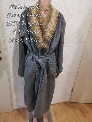 Made in Italy Gabardina tipo vestido gris