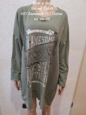 Made in Italy Lange jumper zilver-grijs-groen