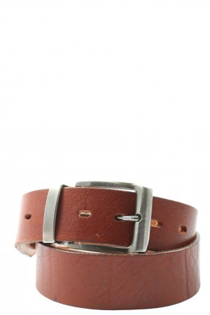 Made in Italy Cintura di pelle marrone stile casual