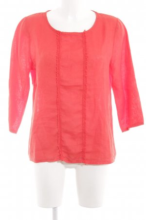 Made in Italy Leinenbluse rot Casual-Look