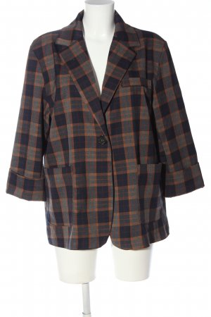 Made in Italy Long-Blazer Karomuster Casual-Look