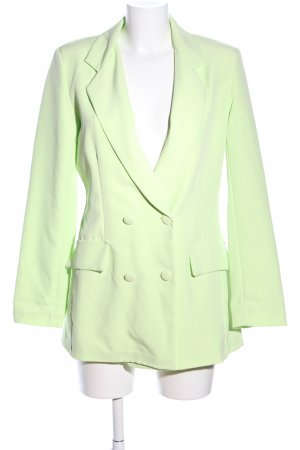 Made in Italy Long-Blazer grün Business-Look