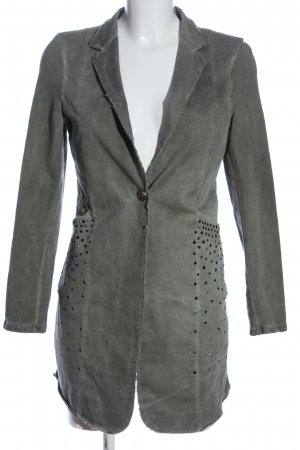 Made in Italy Long-Blazer hellgrau Casual-Look