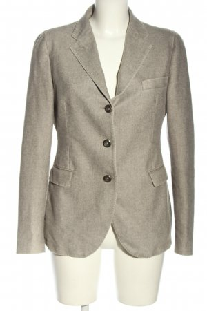 Made in Italy Long-Blazer hellgrau meliert Business-Look