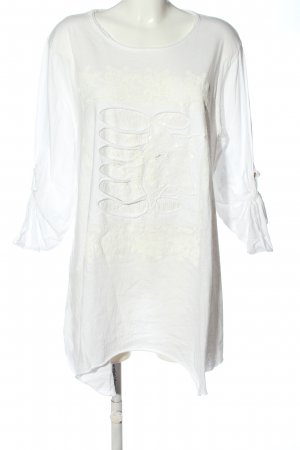 Made in Italy Longshirt weiß Casual-Look