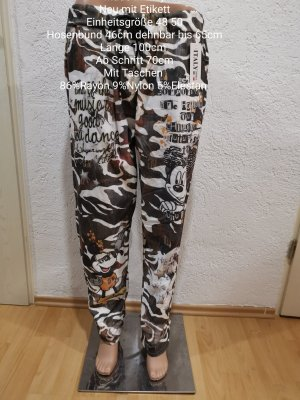 Made in Italy Pantalon large noir-brun