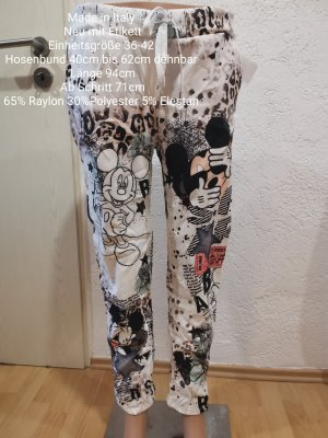 Made in Italy Mickey Mouse Jogpants Jogger weiß Größe 36 38 40 42 Einheitsgröße