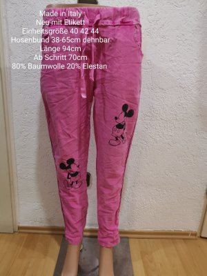 Made in Italy Mickey Mouse Jogpants Pink größe 40 42 44
