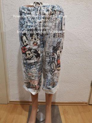 Made in Italy Pantalon capri bleu