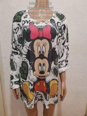 Made in Italy Mickey Mouse Pullover Bluse Größe 48 50 Einheitsgröße
