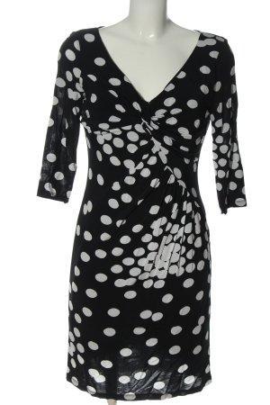 Made in Italy Minikleid schwarz-weiß Allover-Druck Casual-Look