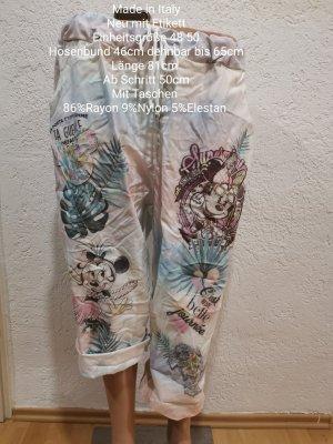 Made in Italy Pantalon capri blanc