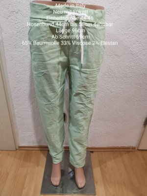 Made in Italy Pantalon large vert menthe