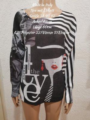 Made in Italy Motiv Frau Strickpullover