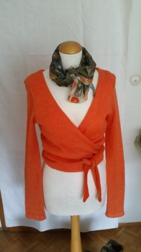 Made in Italy orange Wickeljacke Mohair Gr. L
