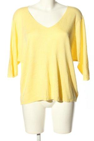 Made in Italy Sweter oversize bladożółty W stylu casual