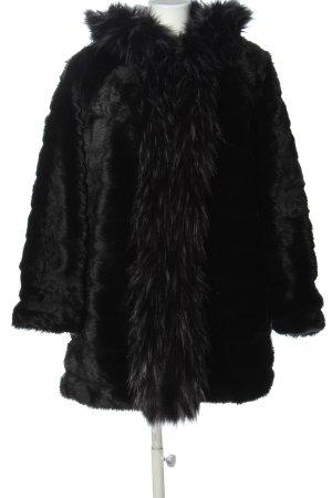 Made in Italy Veste de fourrure noir élégant