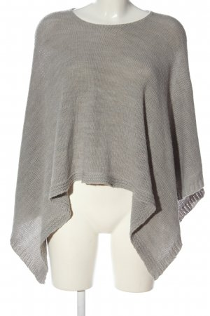 Made in Italy Poncho hellgrau meliert Casual-Look