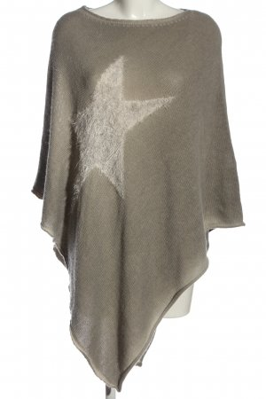 Made in Italy Poncho gris claro look casual