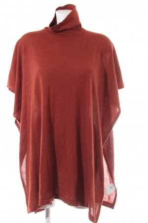 Made in Italy Poncho rood casual uitstraling