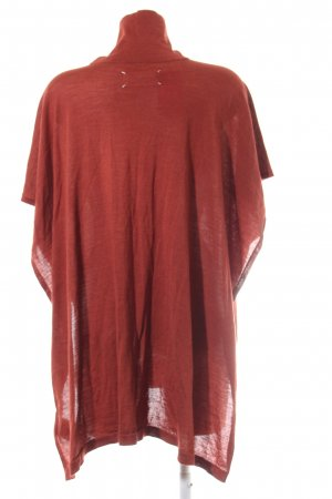 Made in Italy Poncho rot Casual-Look