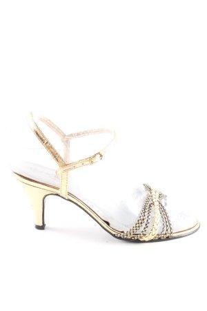 Made in Italy Riemchen-Sandaletten goldfarben klassischer Stil